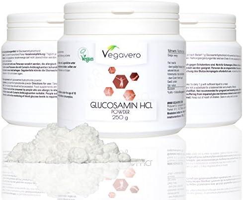 Vegavero Glucosamin Pulver | 250g | Gelenke Gewebe Immunsystem | Vegan
