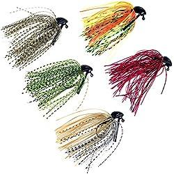thkfish Fishing Jigs Bass Fishing Lures Fishing Jigs Bass Mix Color Metal Lead Fishing Jigs Kit 10g / (3/8oz) 5pcs