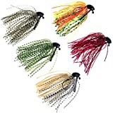 thkfish Fishing Lures Fishing Jigs Swim Jigs Fishing Jigs Bass Mix Color Metal Lead Fishing Jigs Kit 3/8oz 5pcs