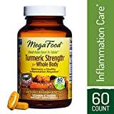 MegaFood – Turmeric Strength for Whole Body, Curcumin Support for a Healthy Inflammation Response with Tart Cherry and Holy Basil Leaf, Vegetarian, Gluten-Free, Non-GMO, 60 Tablets (FFP)