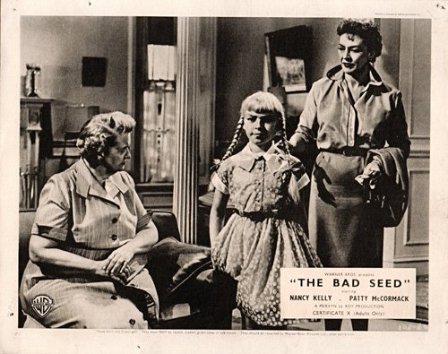 THE BAD SEED ORIGINAL BRITISH LOBBY CARD NANCY KELLY PATTY MCCORMACK 1956