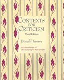 Contexts for Criticism 9781559348447