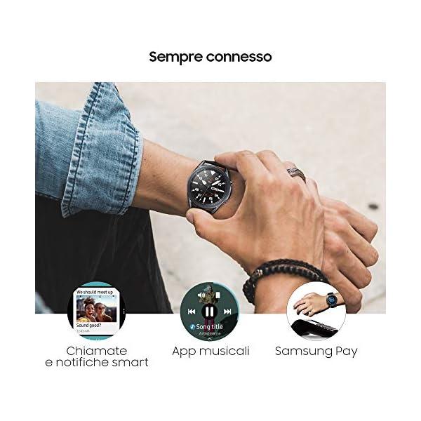 Samsung Galaxy Watch3 Smartwatch Bluetooth, cassa 45mm acciaio, cinturino pelle, Saturimetro, Rilevamento cadute… 6