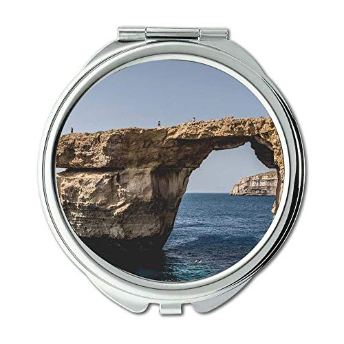 Mirror,Compact Mirror,bay beach cliffs,Pocket Mirror,portable -