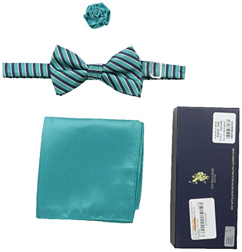 U.S. Polo Assn. Men's Bowtie, Hanky And Lapel Pin Set, U0...