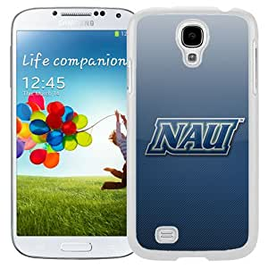 NEW Personalized Customized Galaxy S4 Case with NCAA Big Sky Conference Football Northern Arizona Lumberjacks 4 Logo Cell Phone Hardshell Cover Case for Galaxy S4 SIV S IV I9500 I9505 White