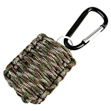 MITE Paracord Survival Grenade Keychain Emergency Survival Kit with 8 Tools for Camping, Hunting, Travel (Camouflage)