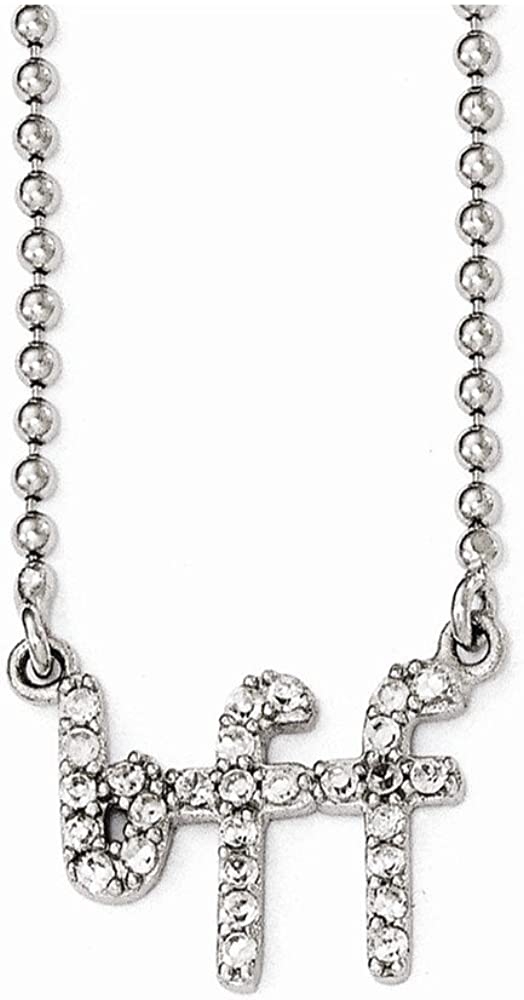 Necklace Cheryl M Sterling Silver CZ BFF 18in