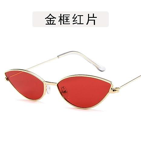 Yangjing-hl Gafas Gafas de Sol de Perlas Ojos de Gato de Metal ...