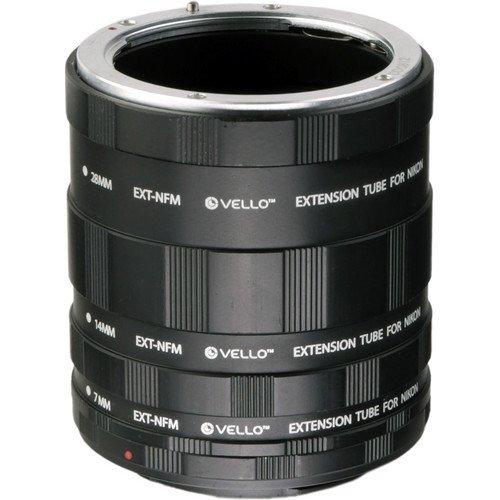 Vello Manual Extension Tube Set for Nikon F-Mount(6 Pack)