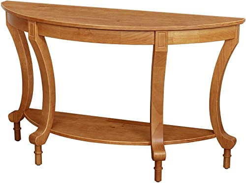 Amazon Brand Ravenna Home Traditional Solid Pine End Table, 28 H, Oak Finish