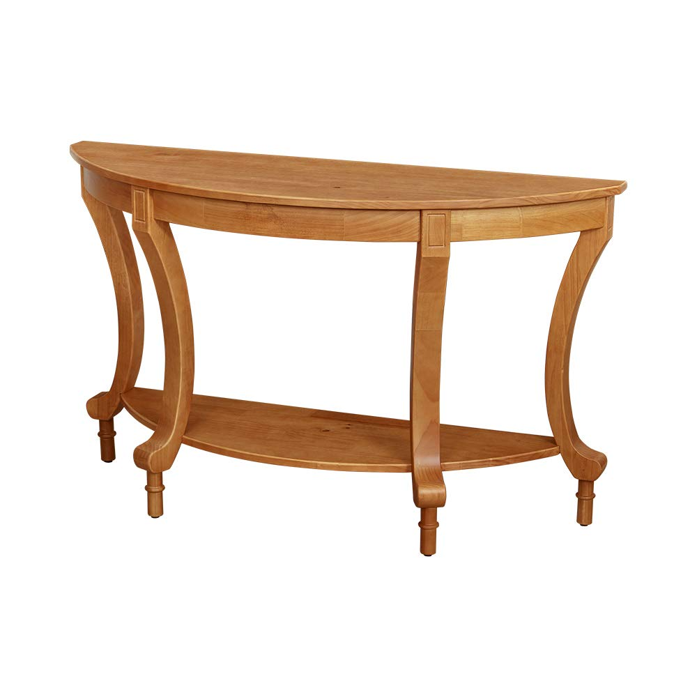 Ravenna Home Traditional Solid Pine End Table, 28'' H, Oak Finish