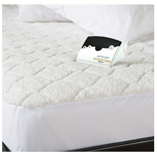 Biddeford 5301-9051128-100M Quilted Sherpa Electric Heated Mattress Pad Full