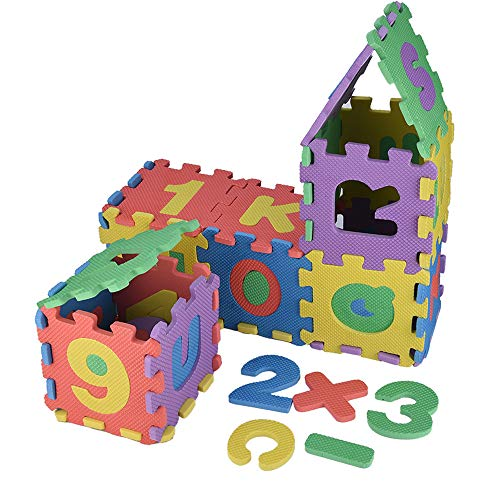 (TLoowy-Clearance 36pcs Baby Child Boys Girls Number Alphabet Puzzle Foam Maths Educational Toy Gift Stimulate Early Childhood Children Learning Building Blocks Floor Mats)