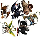 How to train your dragon 6 pieces Decal Movie WALL STICKER Home Decor Art Sticker Room Decor