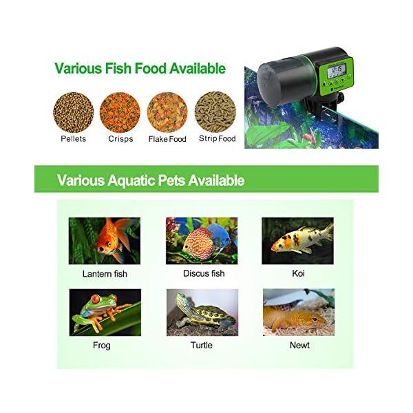 Torlam Auto Fish Feeder, Moisture-Proof Electric Auto Fish Feeder,Aquarium Tank Timer Feeder Vacation &Weekend 2 Fish Food Dispenser 7