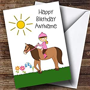 Amazon pony horse riding girl personalized birthday greetings greeting cards m4hsunfo