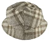 Burberry Womens Beige Dove Bucket Nova Check Wool Cap Hat