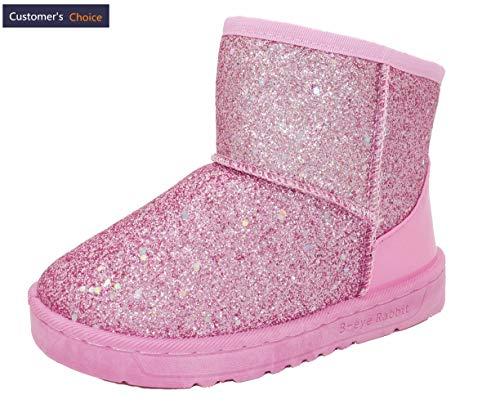 Elcssuy Girl's Outdoor Waterproof Cold Weather Snow Boots(Toddler/Little Kid) Pink1 Little Kid]()