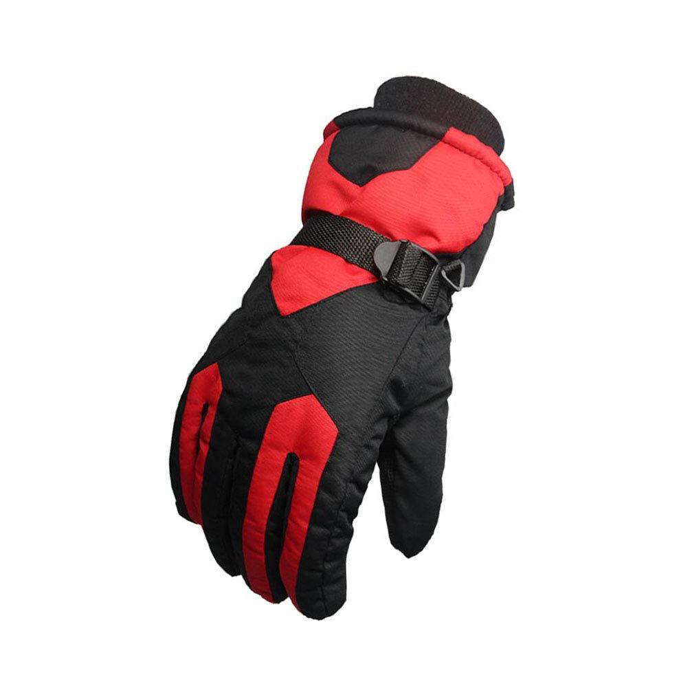 Dall Gloves Gloves Winter Warm Ski Glove Windproof Non-Slip Men Adjustable Size (Color : 001)