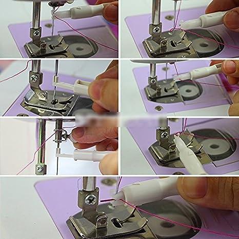 A-goo - Enhebrador de Aguja para máquina de Coser: Amazon.es: Hogar
