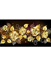 5d Full Drill Diamond Painting Kits for Adults,Large Diamond Art Flowers Painting with Diamonds Crystal Gem Arts and Crafts for Beginners Kids Home Wall Decorations 11.8 * 19.68inch…