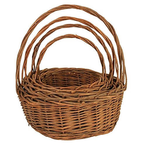 (Wald Imports 14-1/4-Inch Rectangular Willow Tray with Wooden Ear Handles)