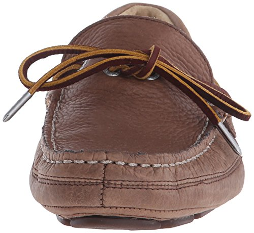 Sebago Manar Kedge Tie Slip-on Loafer Brun Bison Läder