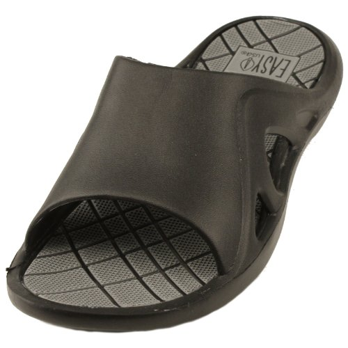 7 Pool Slip Slippers Sz Sandals Blk Beach Slides Gray On Sporty Water Mens Uqwpp