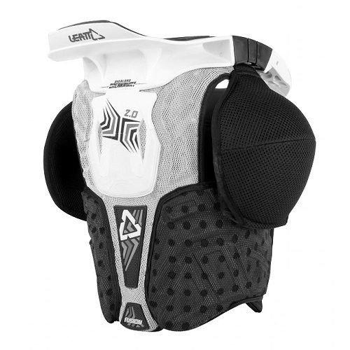 Leatt Fusion 2.0 Jr Protective Vest (White/Black, Small/Medium)