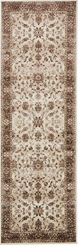 Cheap Modern Vintage Inspired Area Rugs Cream 3′ x 10′ FT Himalaya Collection Rug – rugs for living room – rugs for dining room & bedroom – Floor Carpet