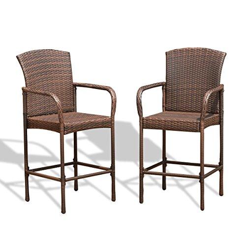 Amazon.com: Hulaloveshop Juego de dos sillas de bar de ...
