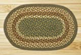 Earth Rugs MS-023 Oval Swatch, 10 x 15, Mustard/Ivory