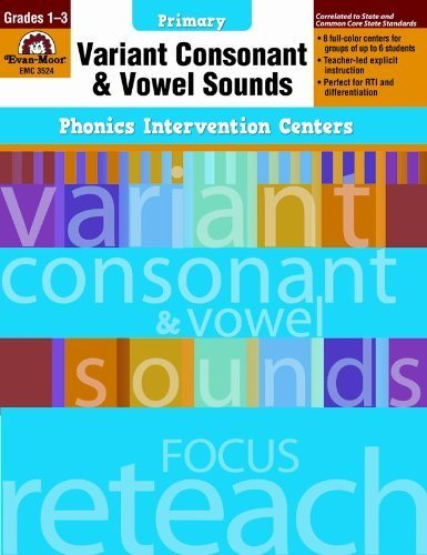 Variant Consonant & Vowel Sounds: Primary (Phonics Intervention Centers) by Liscinsky, Camille (2012) Paperback]()