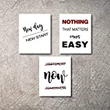 Motivational Office Wall Decor Art Prints Inspirational Quote posters for office Decorations Artwork Positive Affirmation Teamwork Quotes Pictures Living Room Bathroom Kitchen Walls (Office3, 8x10)