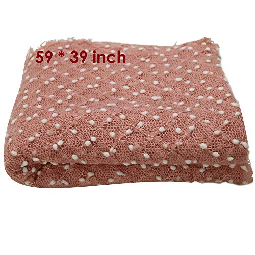 59X39inch Newborn Photography Props Newborn Wraps Baby Photo Blanket, Basket Layer Filler Backdrops Dot Pattern Pretty Breathable Acrylic