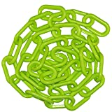 "Product review for Mr. Chain 50014-25 Plastic Barrier Chain, High Density Polyethylene with UV Inhibitors, 2"" Link x  25', Green"