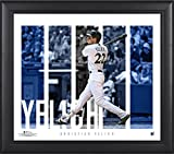 """Christian Yelich Milwaukee Brewers Framed 15"""" x 17"""" Player Panel Collage - MLB Player Plaques and Collages"""