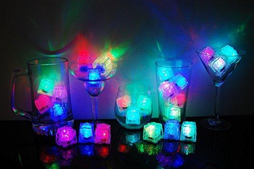 Set of 24 Litecubes Brand 8 Mode MultiColor Rainbow Light up LED Ice Cubes