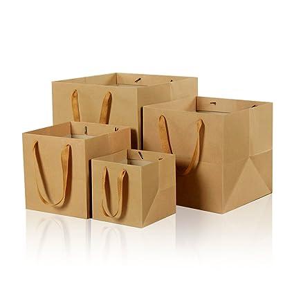 6 Inch Square marrón papel Kraft bolsas de papel bolsas de ...