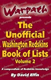 img - for The Unofficial Washington Redskins Book of List Vol. 2 book / textbook / text book