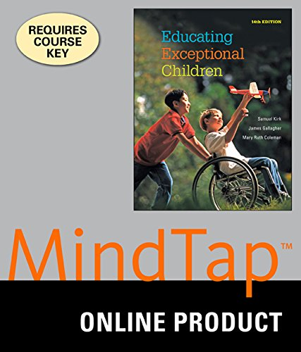 MindTap Education, 1 term (6 months) Printed Access Card for Kirk/Gallagher/Coleman's Educating Exceptional Children, 14th