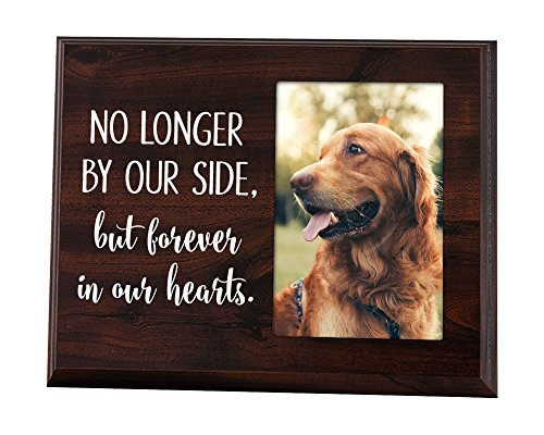 Elegant Signs Pet Frame Memorial No Longer by Our Side but Forever in Our Hearts from Elegant Signs