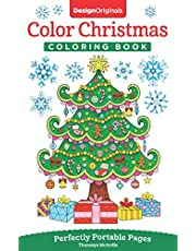 Color Christmas Coloring Book: Perfectly Portable Pages
