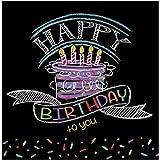 Creative Converting 18 servilletas de patrones de globos, multicolores, Cumpleaños de tiza, Lunch, 1