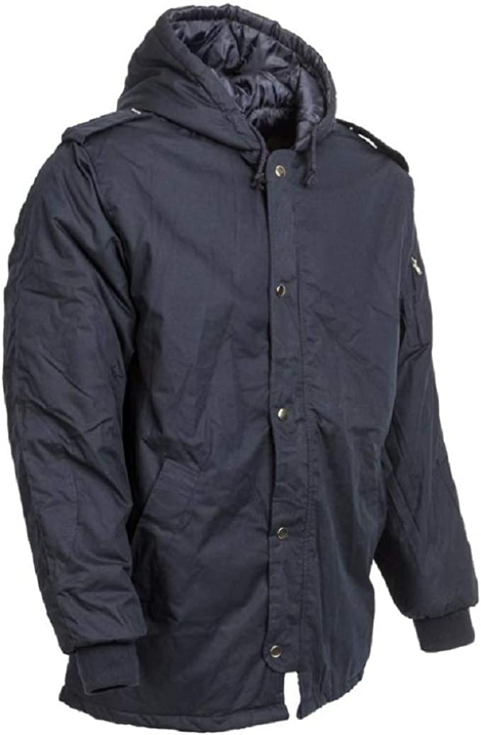 IDF Blue Issue Dubon Hooded Parka Jacket Coat Waterproof Cold Weather Winter New