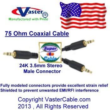 3.5 mm Stereo Splitter Cable 3 Male