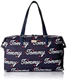 Tommy Hilfiger Women's Weekender Bag Canvas, Navy/Fiery Red