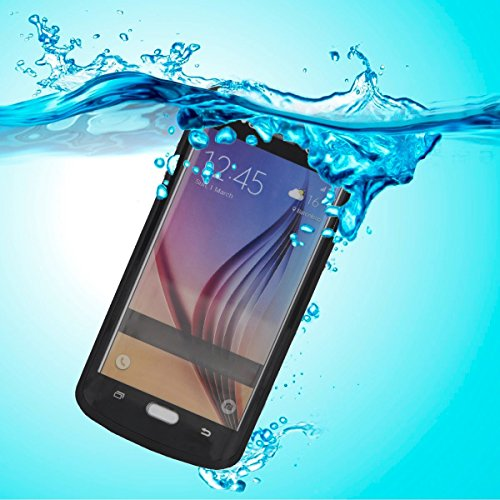 Waterproof Samsung Galaxy S6 Edge Plus Case, Easylife Shockproof Dirtproof Snowproof Full Sealed Case With Built-in Screen Protector Adopt Curved Front Cover, Perfectly Fit Galaxy S6 Edge+/Plus(Black)