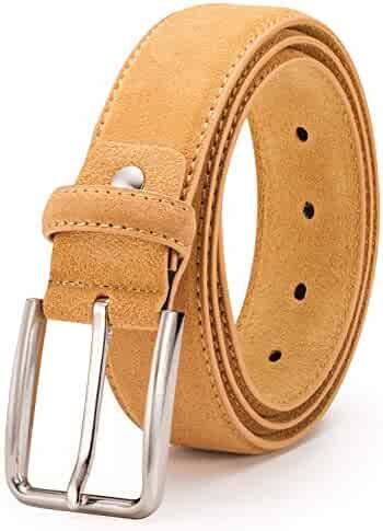 CONCITOR Reversible Belt Solid Colors /& Black Bonded Leather Gold-Tone Buckle